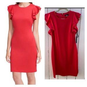 Tommy Hilfiger Red Scuba Sheath Dress